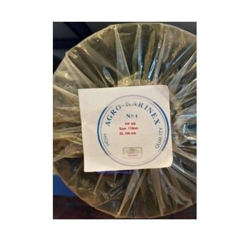 Agrowółknina ściółkujaca pp 50 g/m2 czarna 1,1 x 100 mb. rolka o wadze 8,6 kg. marki Agrokarinex