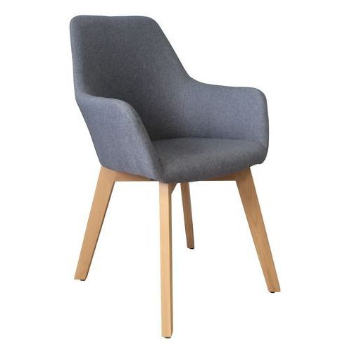 Krzesło tapicerowane z podłokietnikami stone grey marki Exitodesign