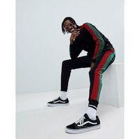 Jaded London Skinny Joggers In Black With Side Stripe - Black, kolor czarny