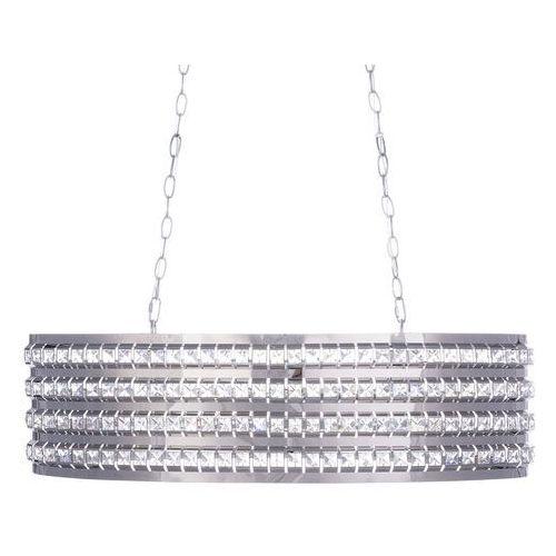 Lampa wisząca srebrna kryształ cavone marki Beliani