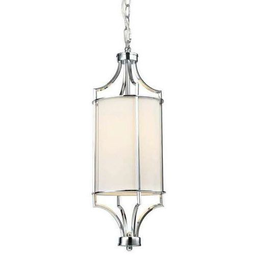 LAMPA klasyczna LUNGA CROMO Orlicki Design wisząca OPRAWA abażurowa tuba ZWIS na łańcuchu kremowy chrom (1000000593358)