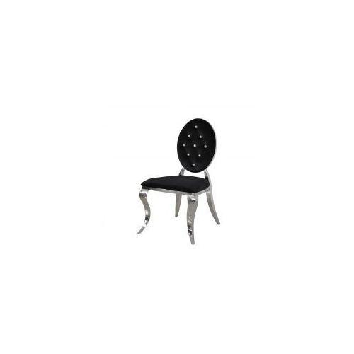 Bellacasa Krzesło ludwik ii glamour black - nowoczesne krzesła pikowane kryształkami