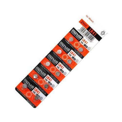 10 x bateria alkaliczna mini Maxell G3 / AG3 / L736 / 192 / LR41, Maxell