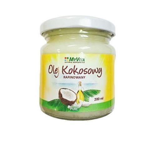 Olej kokosowy rafinowany bezzapachowy pure - 200 ml  wyprodukowany przez Myvita