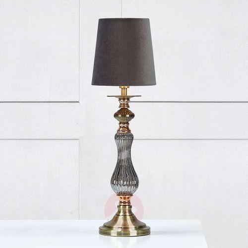 Klasyczna LAMPA stołowa HERITAGE 106989 Markslojd biurkowa LAMPKA abażurowa szary, 106989