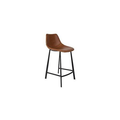 Dutchbone stołek barowy franky niski brązowy - dutchbone 1500042 (8718548030817)