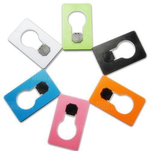Ultra - slim Fold - up Wallet / Purse LED Card Light Creative Lamp Pocket Bulb Design