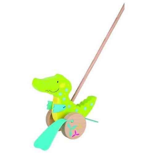 Drewniana zabawka do pchania, krokodyl Susibelle