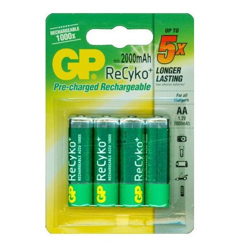 4 x akumulatorki R6/AA GP ReCyko+ 2000mAh (4891199089190)