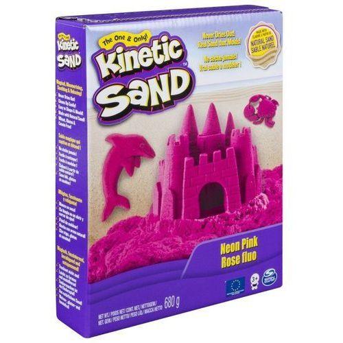 Piasek kinetyczny kinetic sand neonowy, różowy - darmowa dostawa od 199 zł!!! marki Spin master