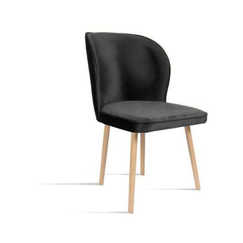 Krzesło RINO ciemny szary/ noga dąb/ TR15, kolor szary