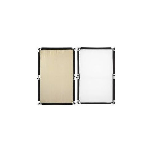 Fomei  quick-clap materiał do panelu 1,5 x 2m gold-silver stripe/white, kategoria: blendy fotograficzne