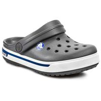 Klapki CROCS - Crocband II.5 Clog Kids 12837 Charcoal/ Sea Blue