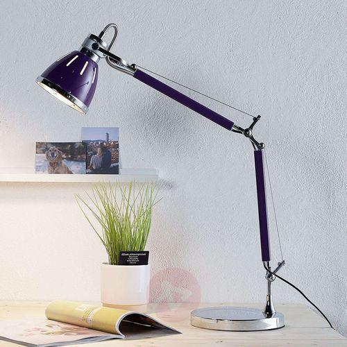Stojąca LAMPA stołowa JERONA 7050114 Spotlight regulowana LAMPKA biurkowa fioletowa, 7050114