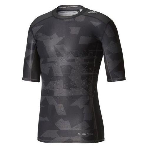 Koszulka termoaktywna  techfit chill short sleeve tee print m cd3646 marki Adidas