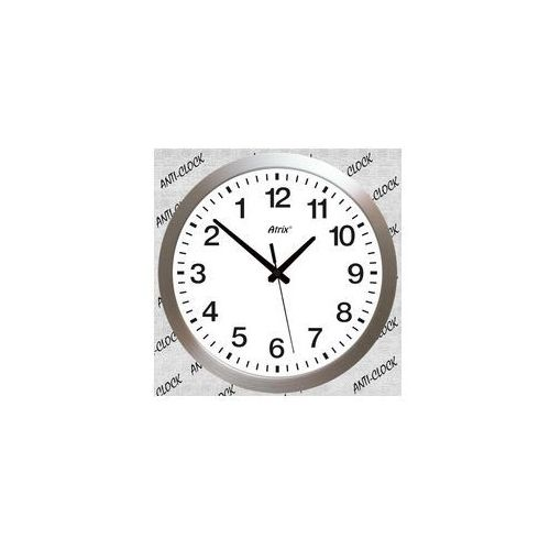 Duży aluminiowy zegar chodzący do tyłu /40cm, CAL1602W