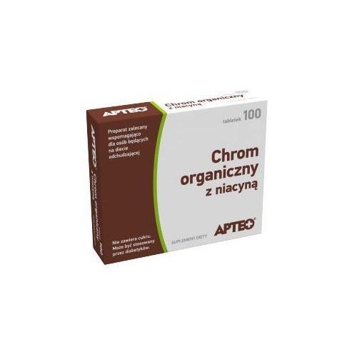 Apteo chrom organiczny z niacyną x 100 tabletek marki Synoptis pharma