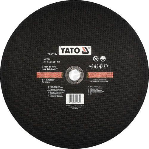 Yato Tarcza do cięcia metalu 355x3,2x25,4mm dla yt-82180 yt-61132 - zyskaj rabat 30 zł (5906083611322)
