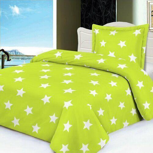 Jahu pościel Stars 70x90/140x200, limonka