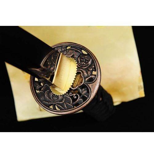 Sztylet samurajski tanto, stal wysokowęglowa 1095, hartowany glinką r736 marki Kuźnia mieczy samurajskich