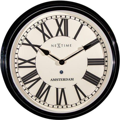 Nextime Zegar ścienny amsterdam 40,5 cm (3129 zw) (8717713015321)