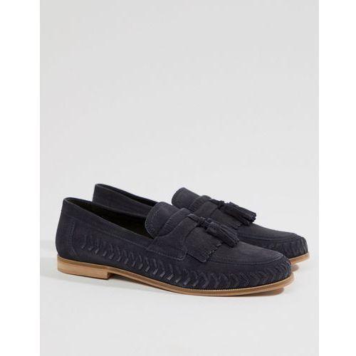 Kg by kurt geiger woven loafers in navy suede - blue, Kg kurt geiger
