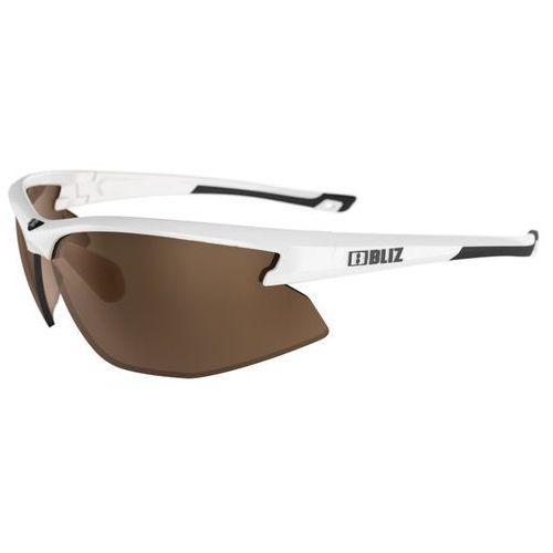 Sportowe okulary przeciwsłoneczne motion, czarne z pomarańczowymi szkłami marki Bliz