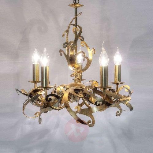 Holländer buono lampa wisząca złoty, 5-punktowe - klasyczny - obszar wewnętrzny - buono - czas dostawy: od 8-12 dni roboczych