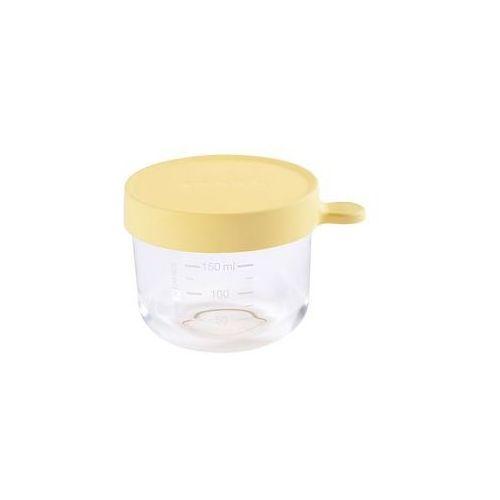 Beaba Pojemnik s�oiczek szklany z hermetycznym zamkni�ciem 150 ml (yellow)