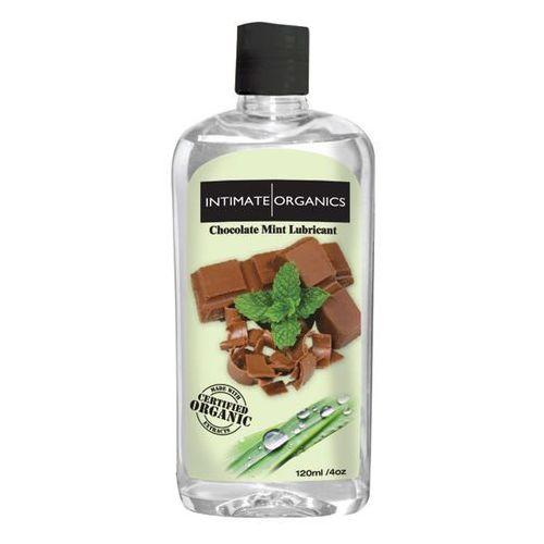 Smakowy żel nawilżający -  chocolate mint lube 120 ml czekolada i mięta marki Intimate organics