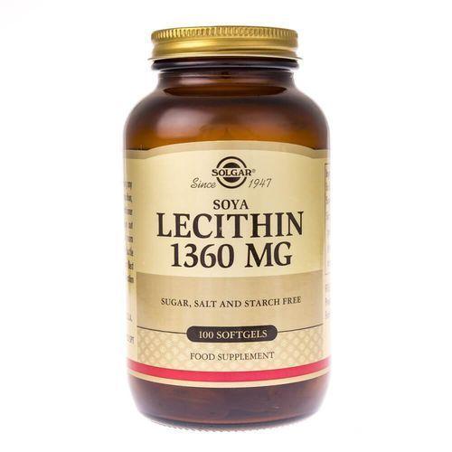 Kapsułki Solgar Soya Lecithin (lecytyna) 1360 mg - 100 kapsułek