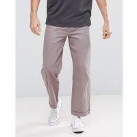 boohooMAN Wide Leg Chinos In Grey - Grey, kolor szary