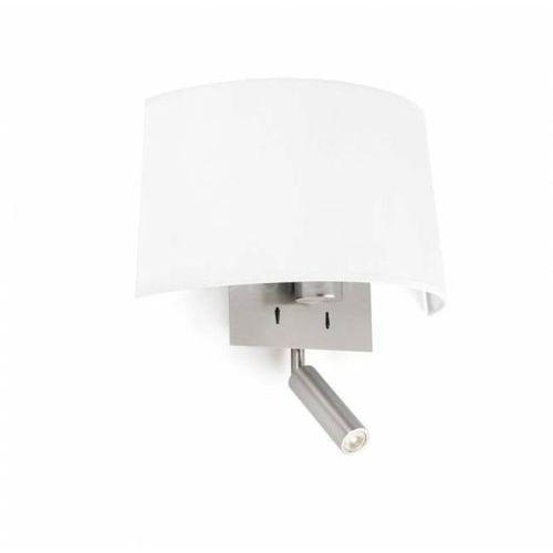 Faro barcelona Faro volta lampa ścienna led nikiel matowy, 1-punktowy - nowoczesny - obszar wewnętrzny - volta - czas dostawy: od 10-14 dni roboczych (8421776080850)