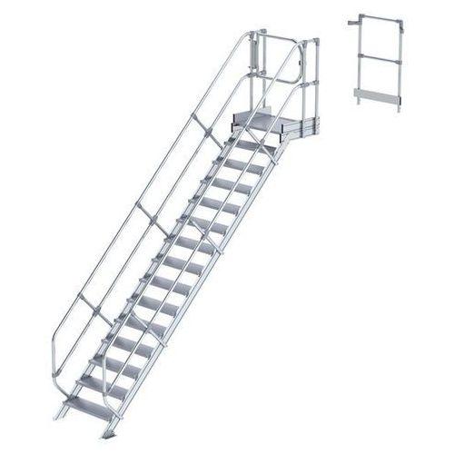 Przemysłowy pomost roboczy, moduł do schodów, 14 stopni. Najwyższa elastyczność