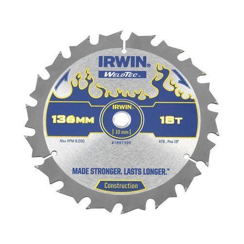 Irwin weldtec Tarcza do pilarki tarczowej 136 mm/18t c/10