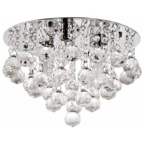 Ven Plafon lampa sufitowa p-e 1437/3-35 glamour oprawa kaskada z kryształkami crystal przezroczysta