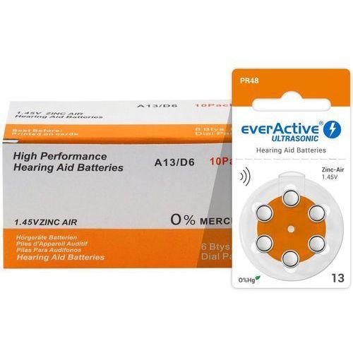 60 x baterie do aparatów słuchowych ultrasonic 13 marki Everactive