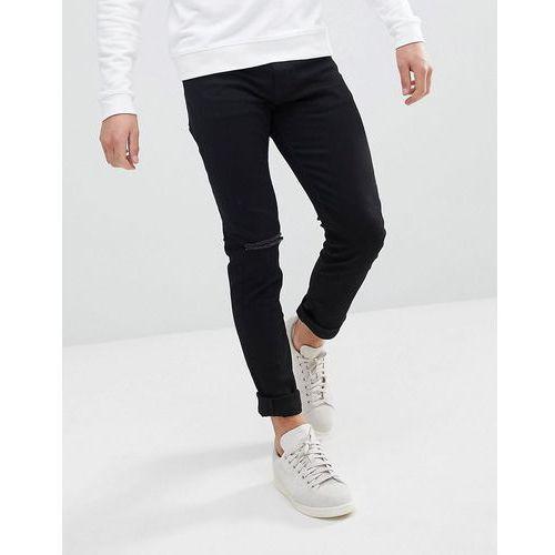 Weekday Friday Black Distressed Skinny Jeans - Black