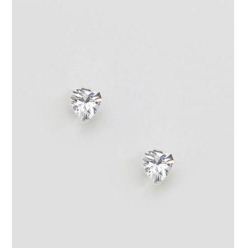 Kingsley ryan sterling silver heart stud earrings - silver