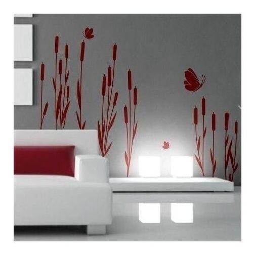 Wally - piękno dekoracji Szablon malarski motyle w trawie 1151