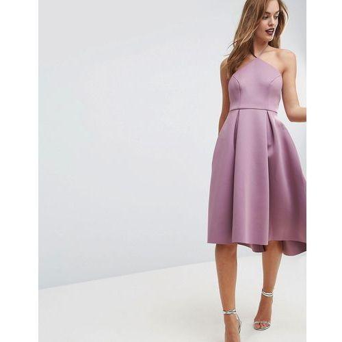 ASOS Halter Neck Prom Midi Dress - Pink, kolor różowy
