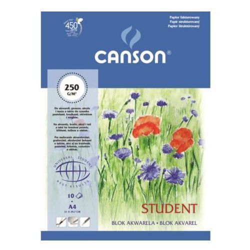 Canson  student blok akwarelowy 30x40/10 250g/m, kategoria: papiery fotograficzne