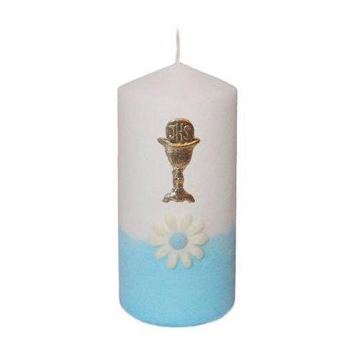 Świeczka komunijna klubowa margerytka niebieska - 1 szt. marki Deco ma