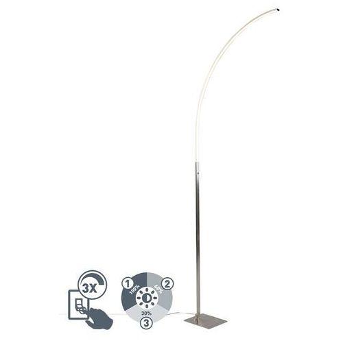Qazqa Nowoczesna lampa stojąca ze stali, w tym led i 3-stopniowy ściemniacz - stylowy