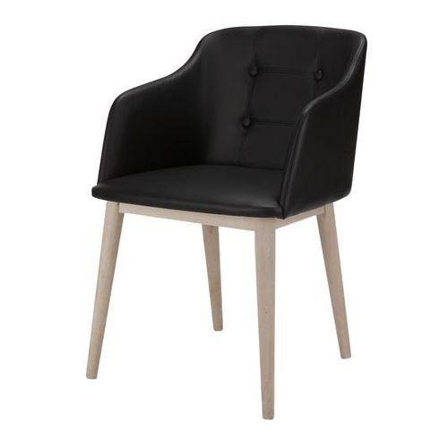 Krzesło corpus czarne, biało-szare, eko skóra, drewno, 22114-1 marki Interstil