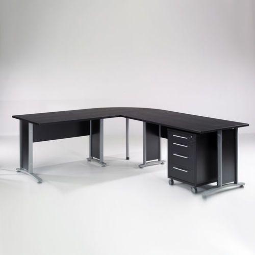 Biurko narożne Prima 230 x 200 z kontenerkiem 4 Tvilum - czarny