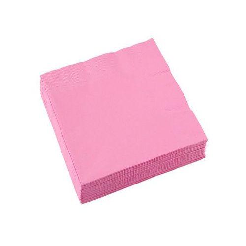 Serwetki różowe - 25 cm - 20 szt. marki Amscan