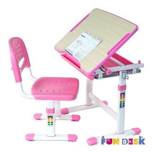 Piccolino pink - ergonomiczne, regulowane biurko dziecięce + krzesełko marki Fundesk