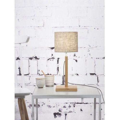 lampa stołowa fuji, abażur w kolorze jasnego lnu fuji/t/1815/ll marki It's about romi