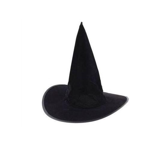 Go Kapelusz czarownicy flokowany na halloween - 1 szt.